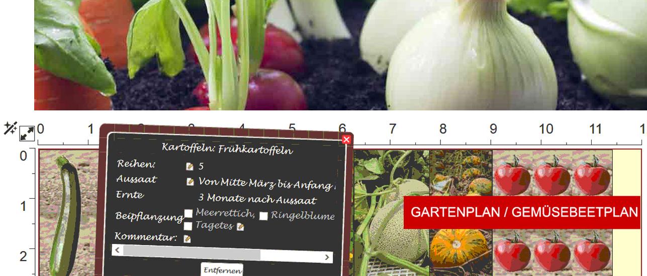 Gartenplaner  Gartenplaner Beetplaner Startseite - Gemüseanbau planen